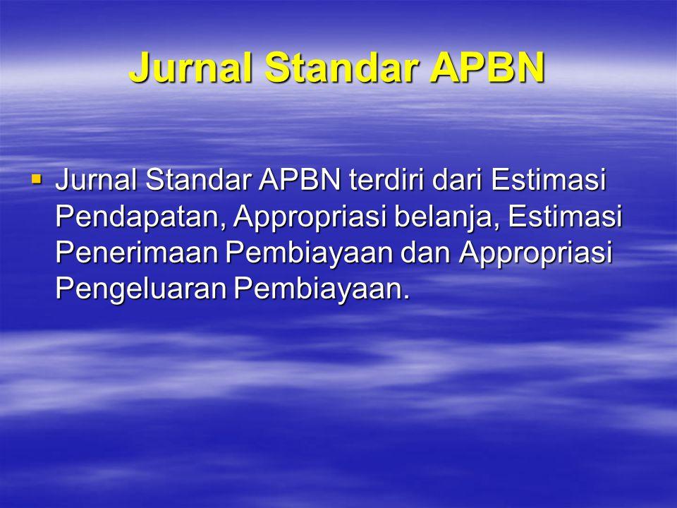 Jurnal Standar APBN