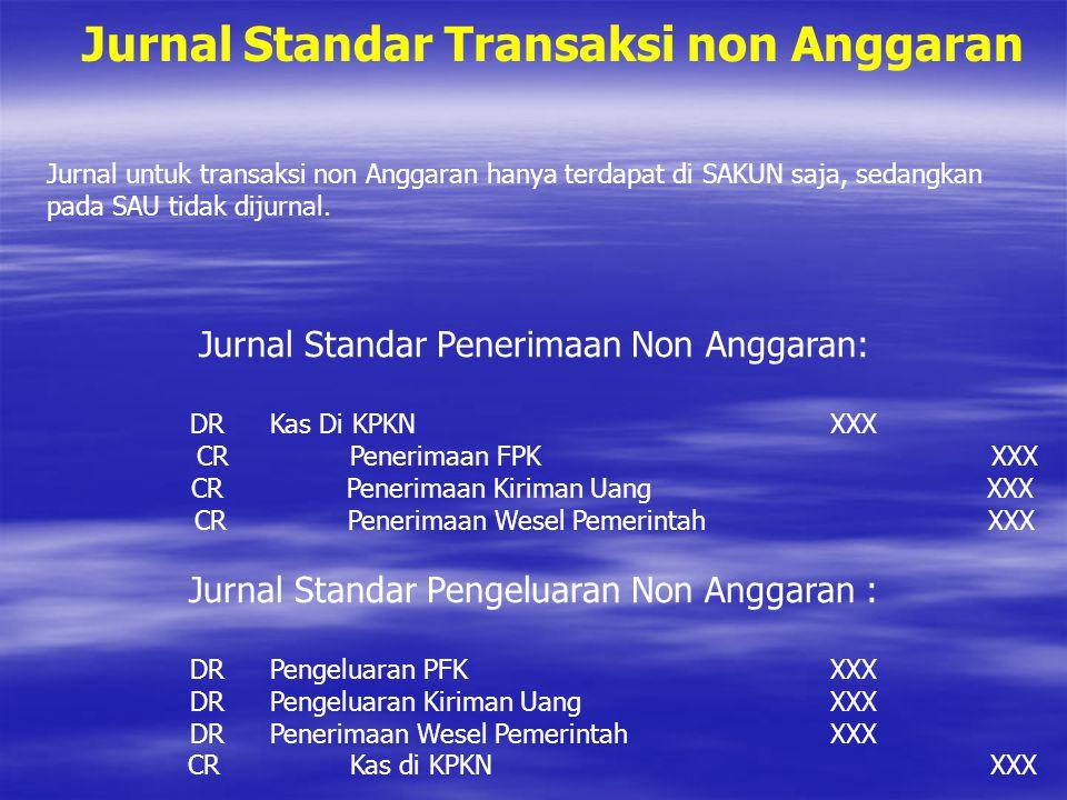 Jurnal Standar Transaksi non Anggaran