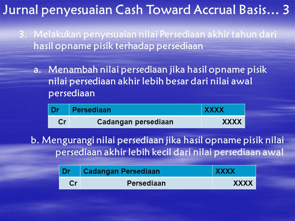 Jurnal penyesuaian Cash Toward Accrual Basis… 3