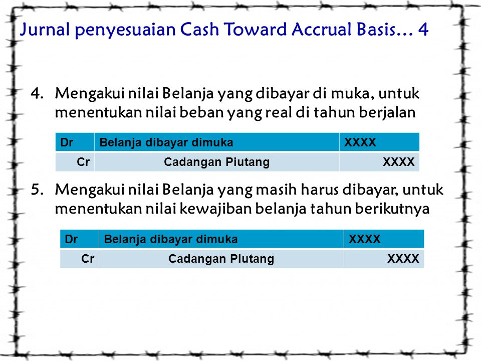 Jurnal penyesuaian Cash Toward Accrual Basis… 4