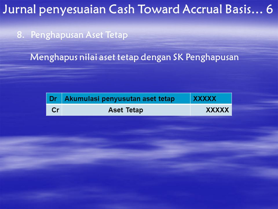 Jurnal penyesuaian Cash Toward Accrual Basis… 6