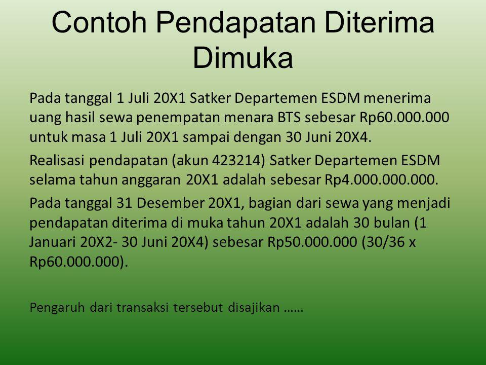 Contoh Pendapatan Diterima Dimuka