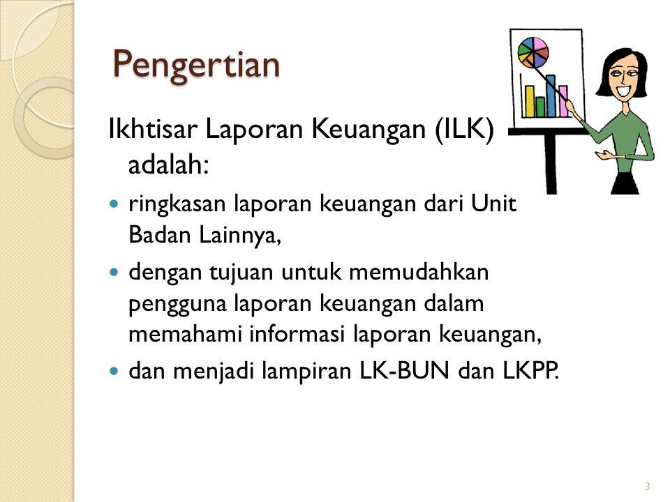 Pengertian Ikhtisar Laporan Keuangan (ILK) adalah: