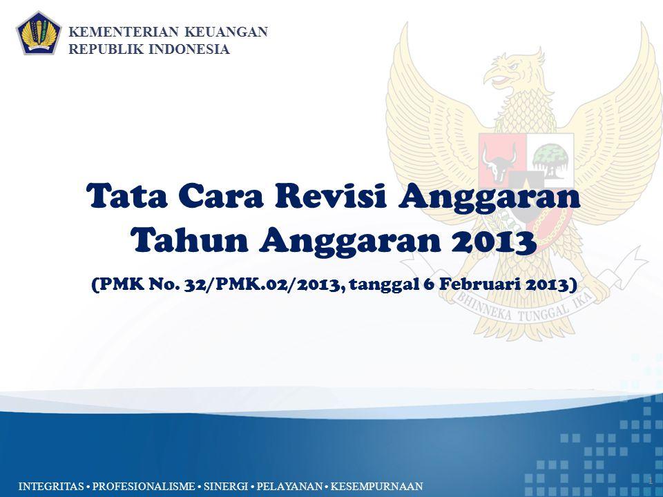 Tata Cara Revisi Anggaran Tahun Anggaran 2013