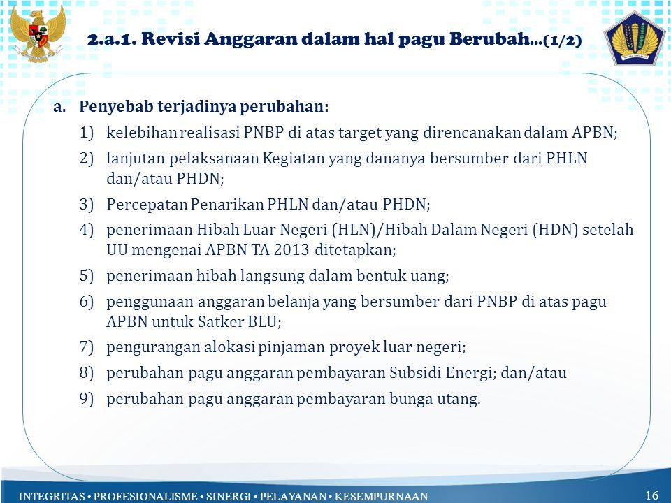 2.a.1. Revisi Anggaran dalam hal pagu Berubah...(1/2)