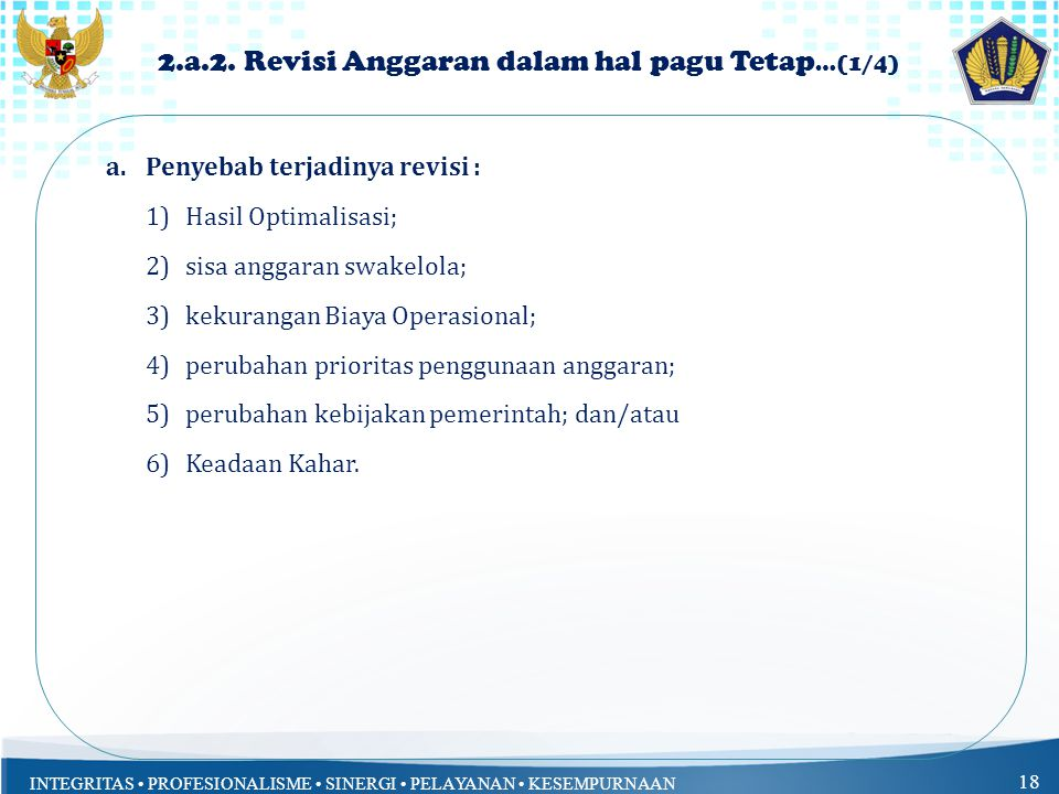 2.a.2. Revisi Anggaran dalam hal pagu Tetap…(1/4)
