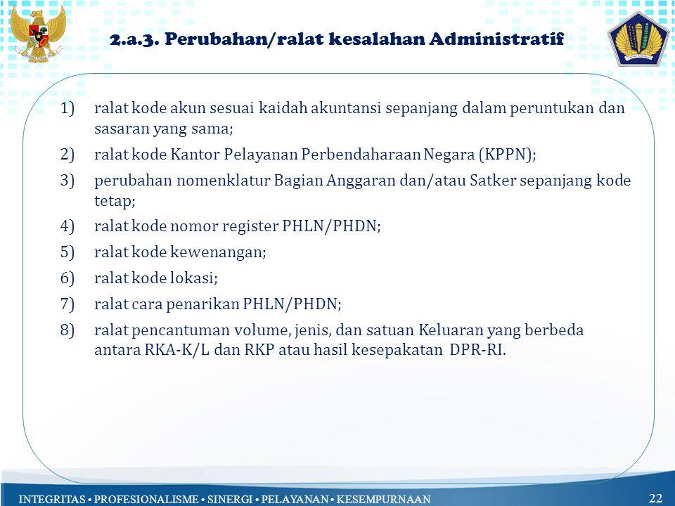 2.a.3. Perubahan/ralat kesalahan Administratif