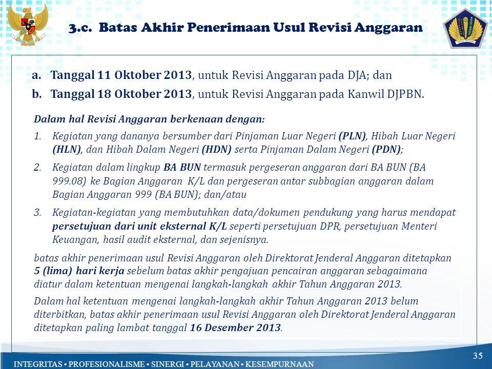 3.c. Batas Akhir Penerimaan Usul Revisi Anggaran
