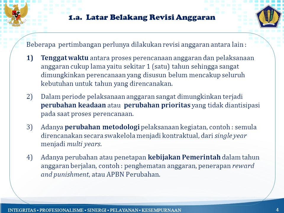 1.a. Latar Belakang Revisi Anggaran