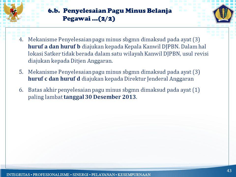 6.b. Penyelesaian Pagu Minus Belanja Pegawai …(2/2)