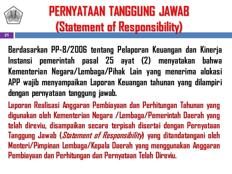 PERNYATAAN TANGGUNG JAWAB (Statement of Responsibility)