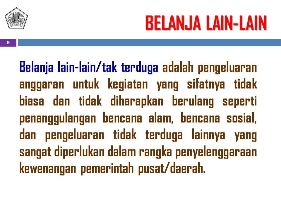 BELANJA LAIN-LAIN
