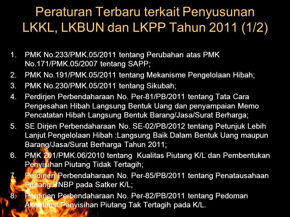 Peraturan Terbaru terkait Penyusunan LKKL, LKBUN dan LKPP Tahun 2011 (1/2)