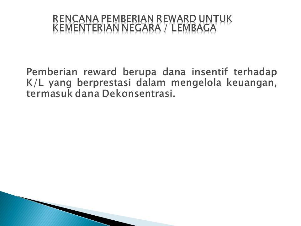 RENCANA PEMBERIAN Reward UNTUK