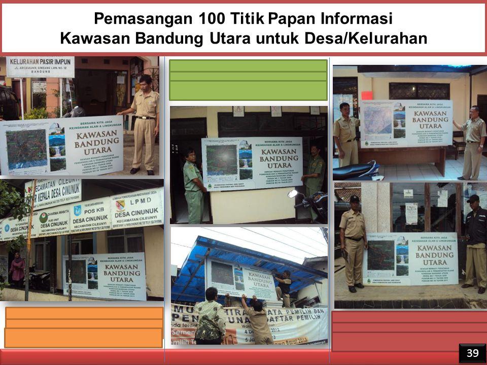 Pemasangan 100 Titik Papan Informasi Kawasan Bandung Utara untuk Desa/Kelurahan