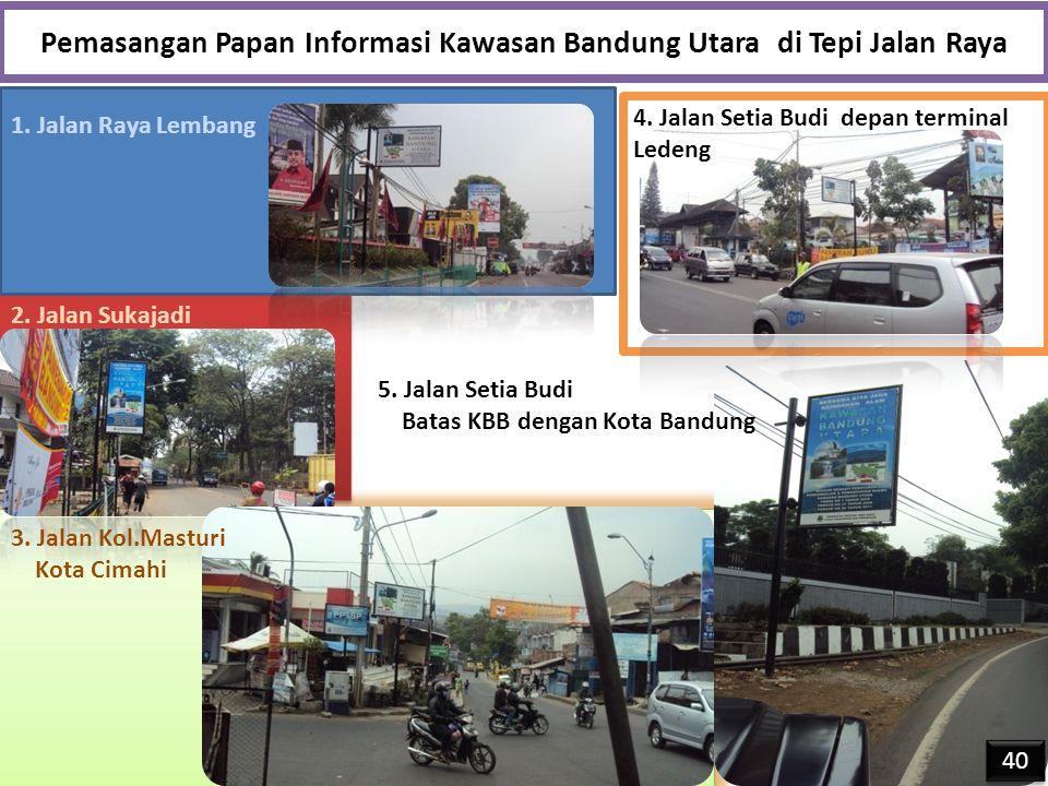 Pemasangan Papan Informasi Kawasan Bandung Utara di Tepi Jalan Raya