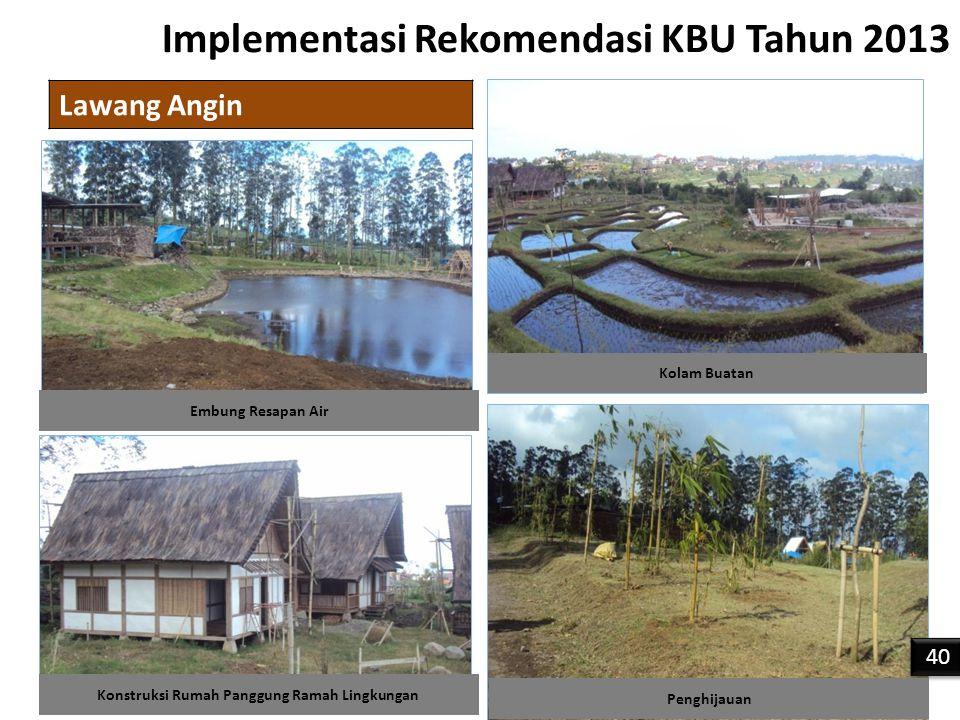 Implementasi Rekomendasi KBU Tahun 2013