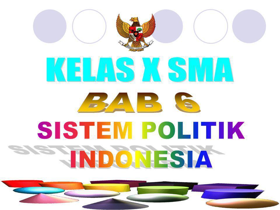 KELAS X SMA BAB 6 SISTEM POLITIK INDONESIA