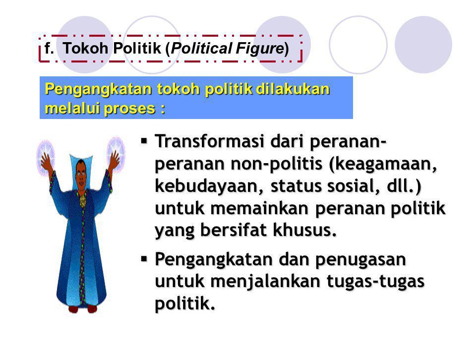 Pengangkatan dan penugasan untuk menjalankan tugas-tugas politik.