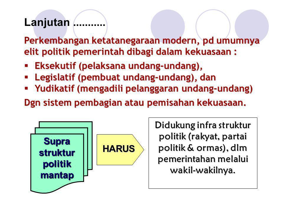 Supra struktur politik mantap