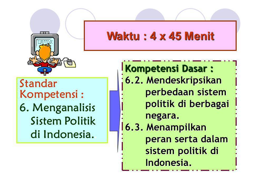 6. Menganalisis Sistem Politik di Indonesia..