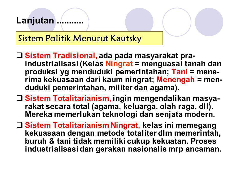 Sistem Politik Menurut Kautsky