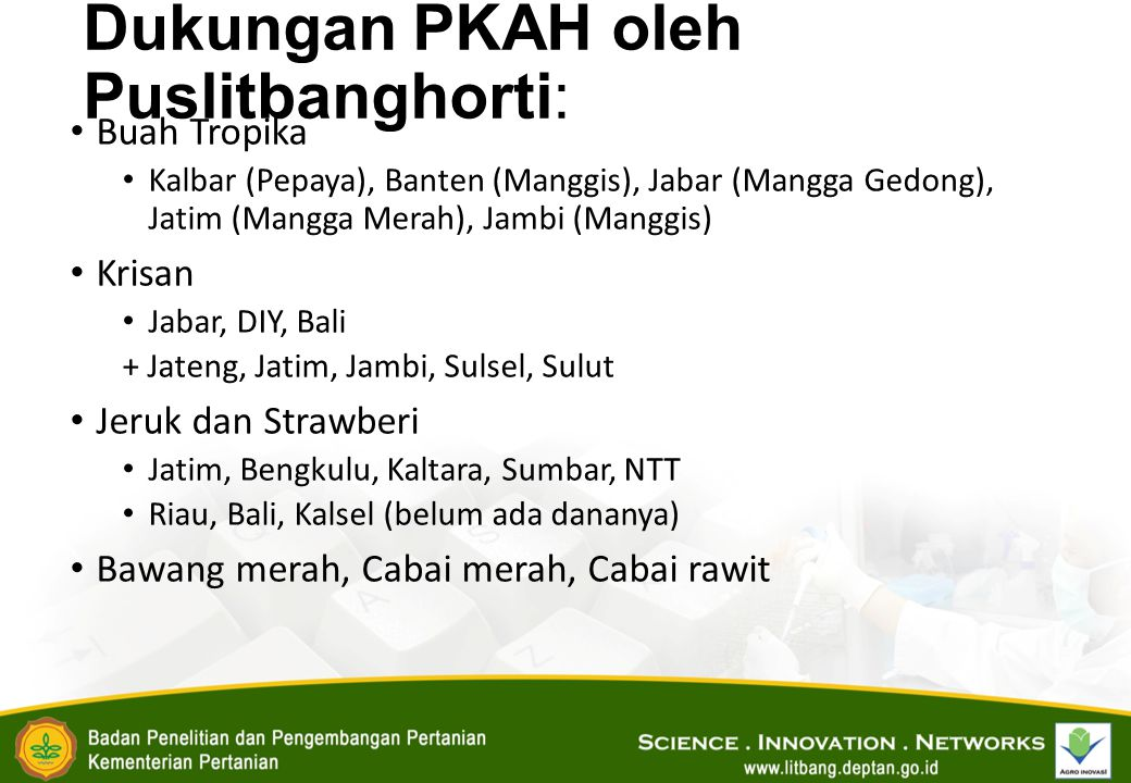 Dukungan PKAH oleh Puslitbanghorti: