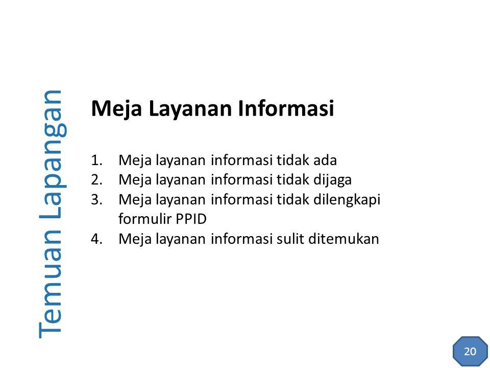 Temuan Lapangan Meja Layanan Informasi
