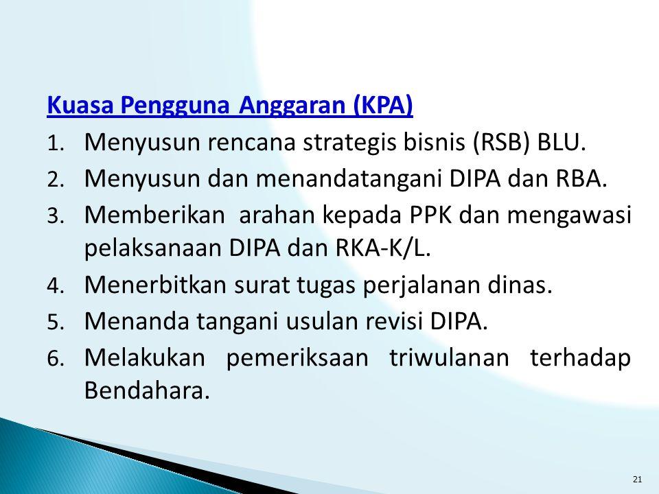 Kuasa Pengguna Anggaran (KPA)