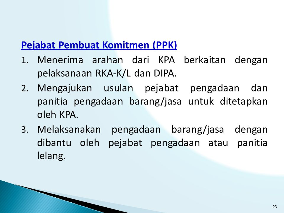 Pejabat Pembuat Komitmen (PPK)