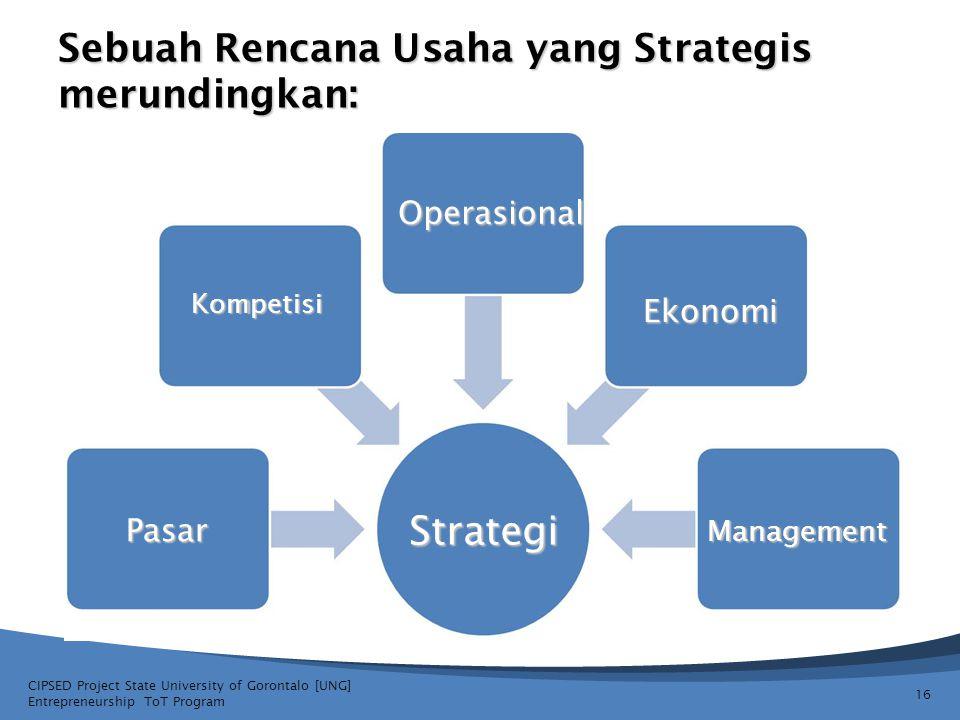 Sebuah Rencana Usaha yang Strategis merundingkan: