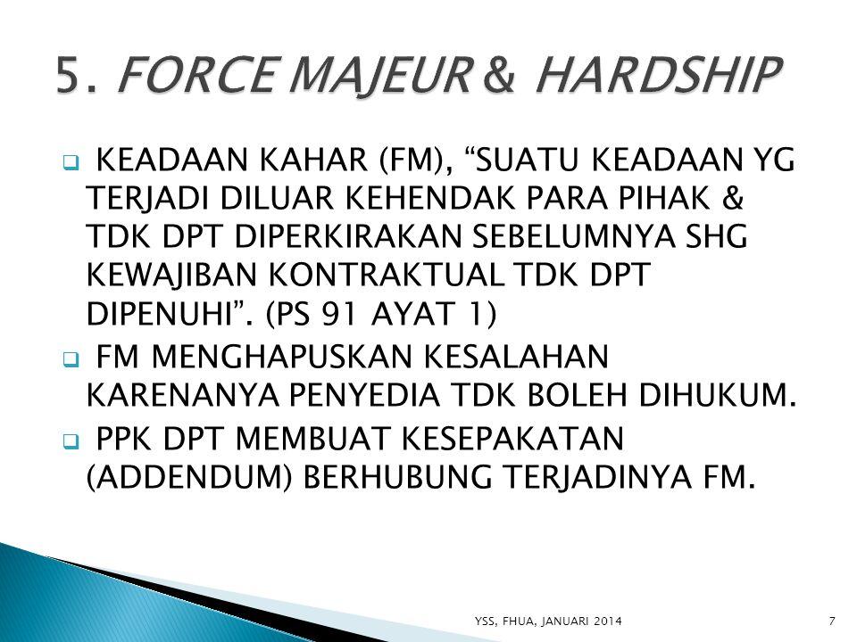 5. FORCE MAJEUR & HARDSHIP