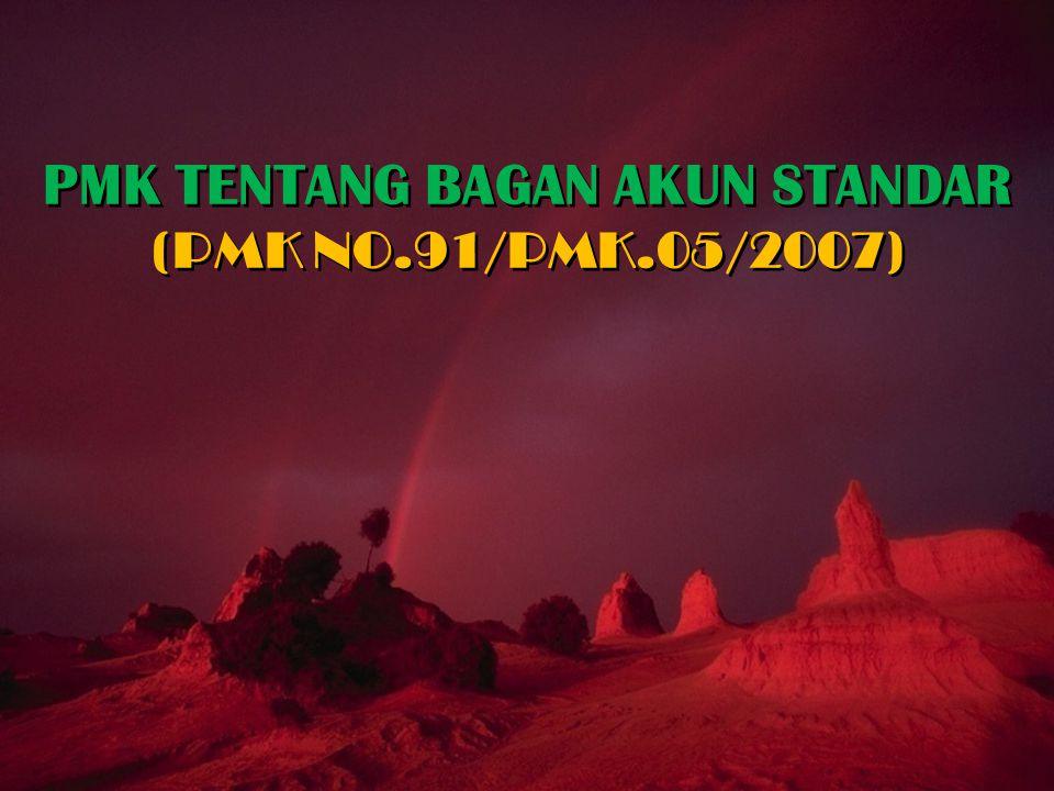 PMK TENTANG BAGAN AKUN STANDAR (PMK NO.91/PMK.05/2007)