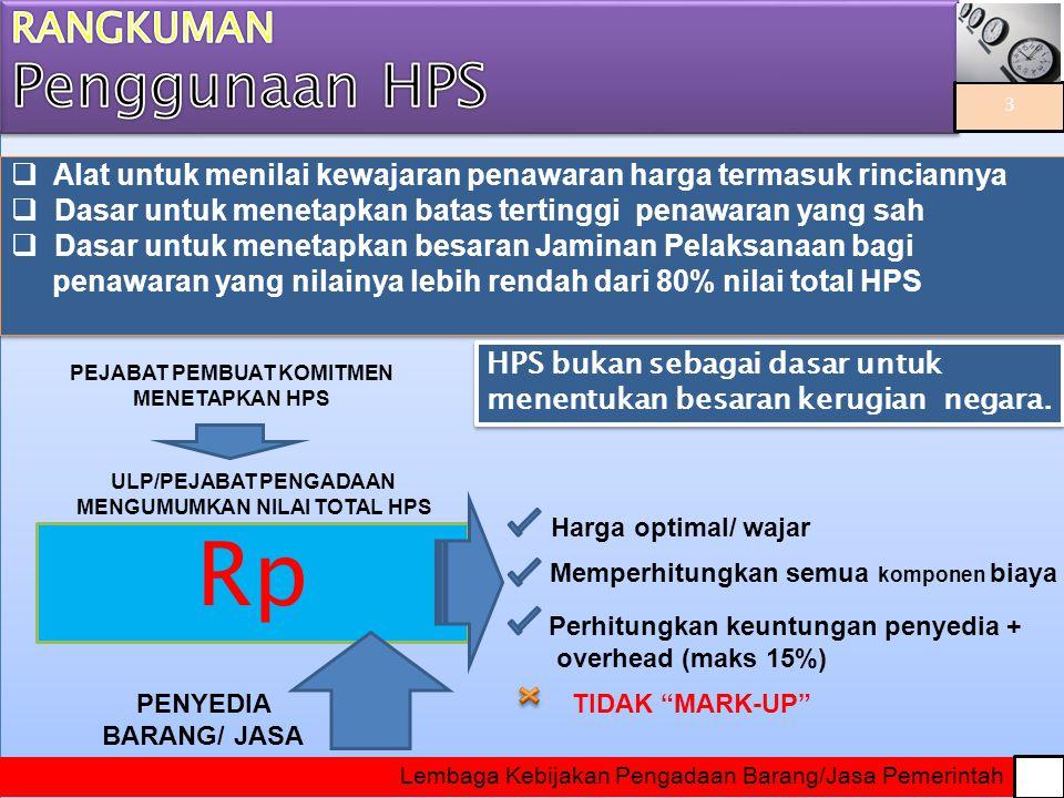 Data/Informasi untuk membuat HPS