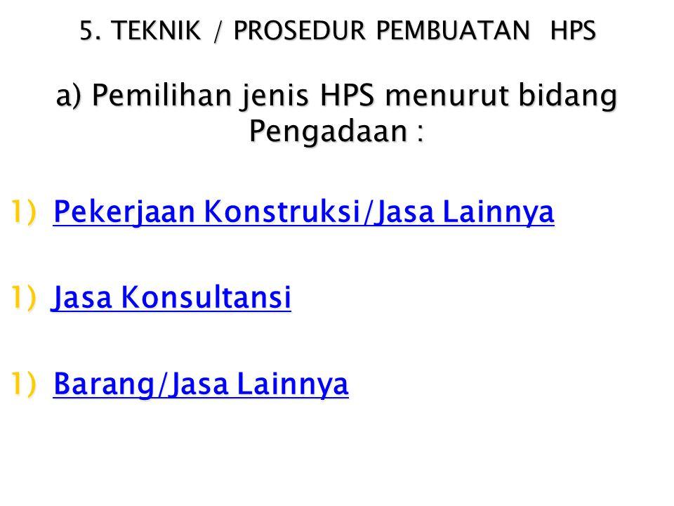 HPS memperhitungkan PPN, overhead & profit (paling tingggi 15% ),
