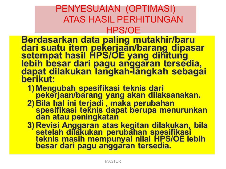 (Contoh) Perhitungan HPS sesuai Perpres 54 Th 2011