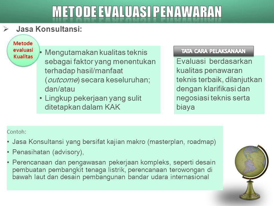 METODE EVALUASI PENAWARAN