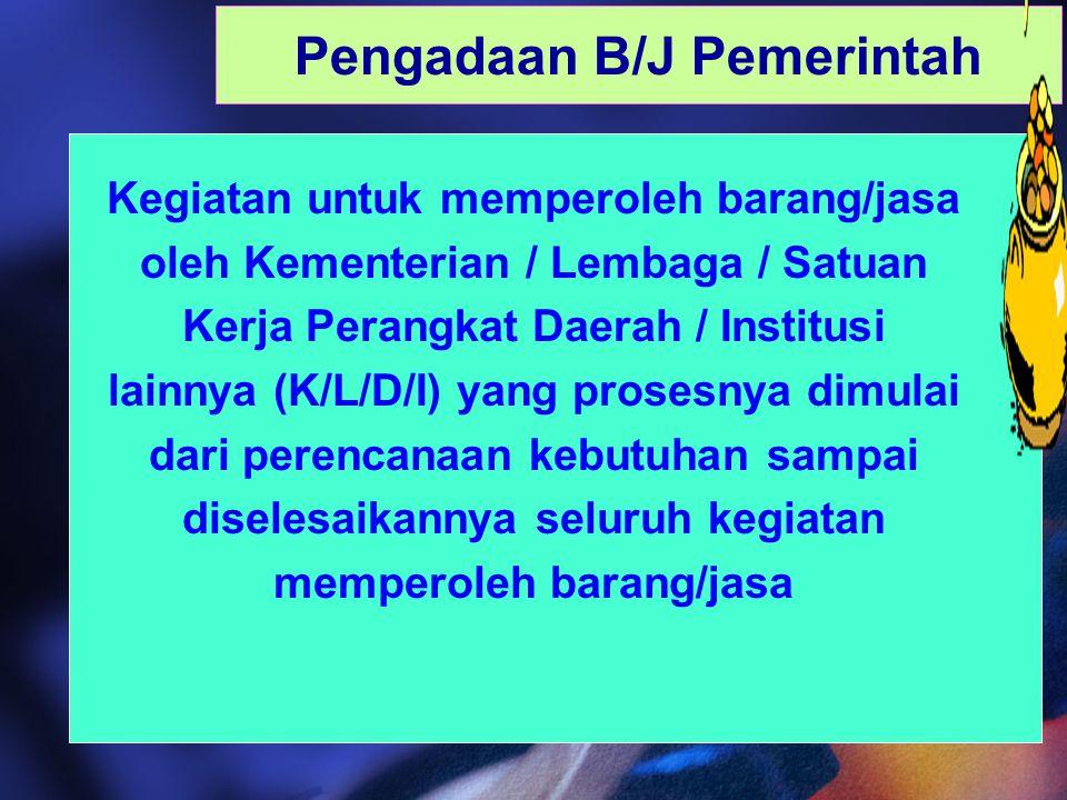 Pengadaan B/J Pemerintah