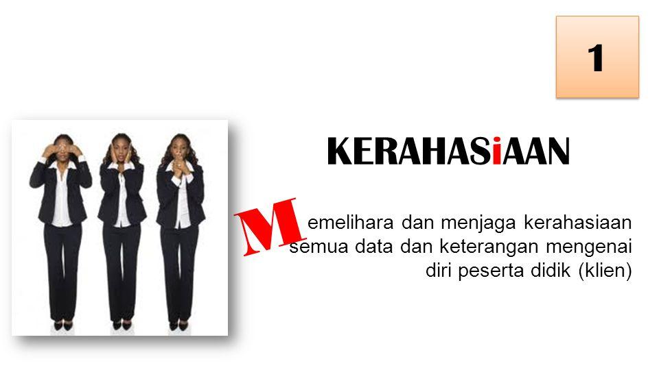 1 KERAHASiAAN. M.