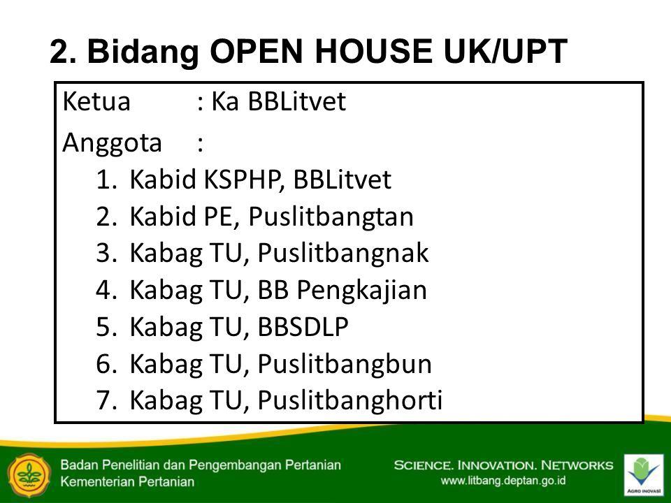 2. Bidang OPEN HOUSE UK/UPT