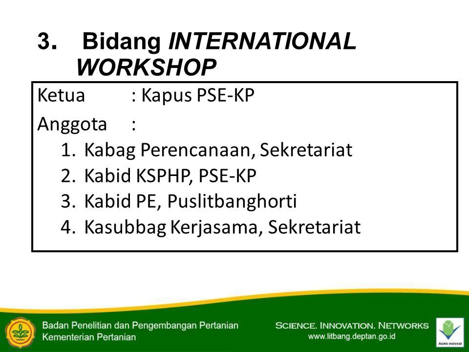 3. Bidang INTERNATIONAL WORKSHOP