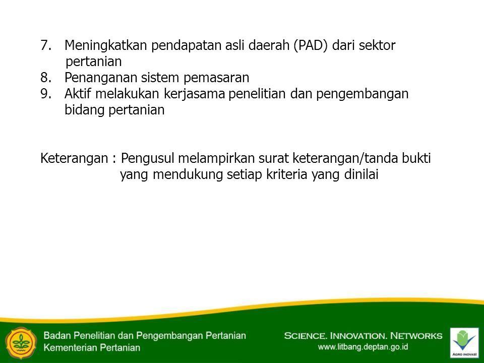 Meningkatkan pendapatan asli daerah (PAD) dari sektor