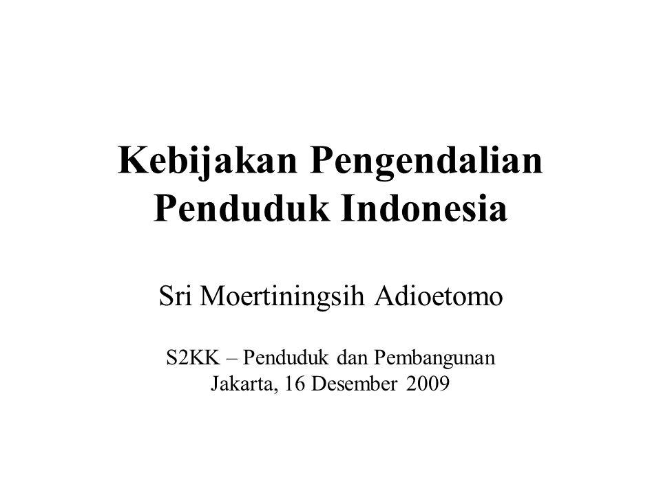 Kebijakan Pengendalian Penduduk Indonesia