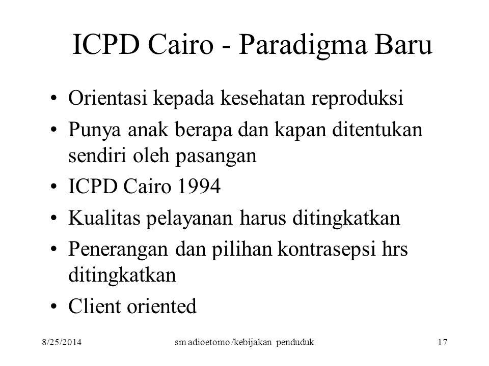 ICPD Cairo - Paradigma Baru
