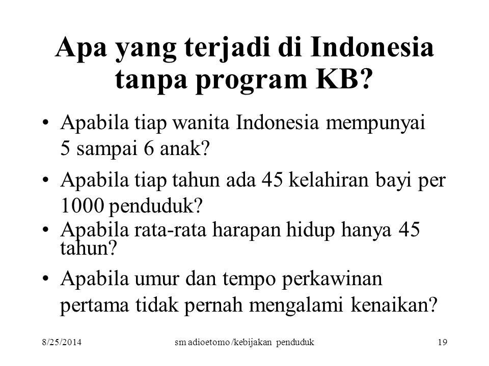 Apa yang terjadi di Indonesia tanpa program KB