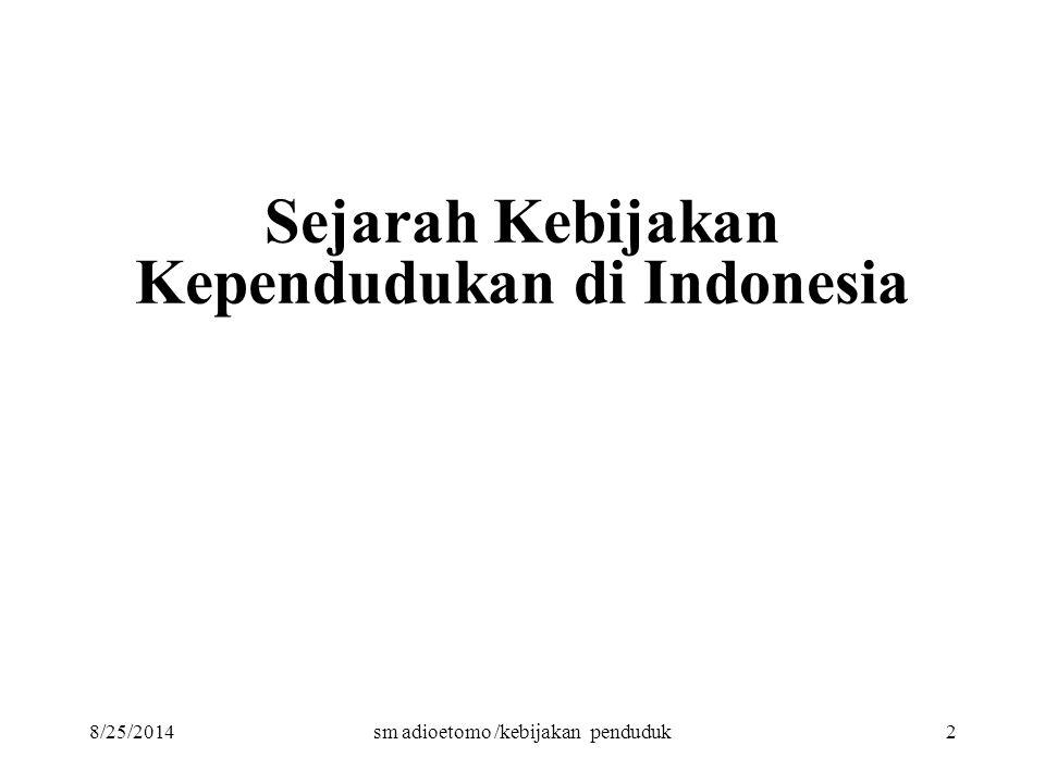 Sejarah Kebijakan Kependudukan di Indonesia