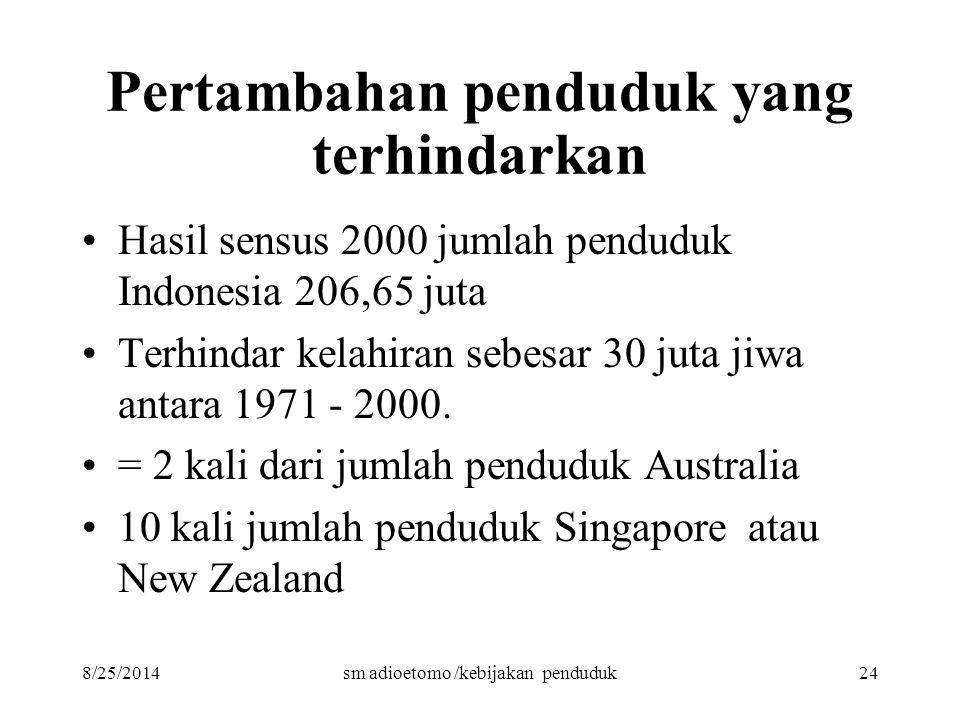 Pertambahan penduduk yang terhindarkan