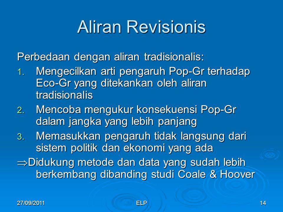 Aliran Revisionis Perbedaan dengan aliran tradisionalis: