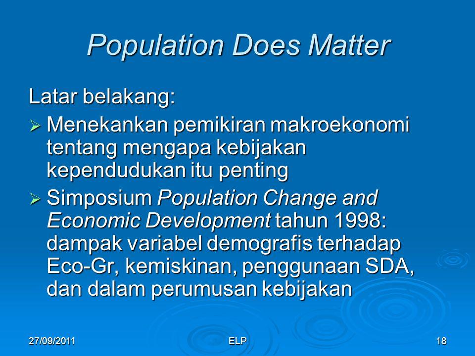 Population Does Matter