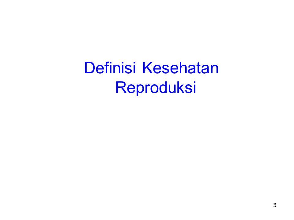 Definisi Kesehatan Reproduksi